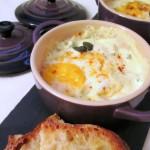 Cocottine di uova spumose