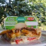 Torta rustica con peperoni, melanzane e zucchine