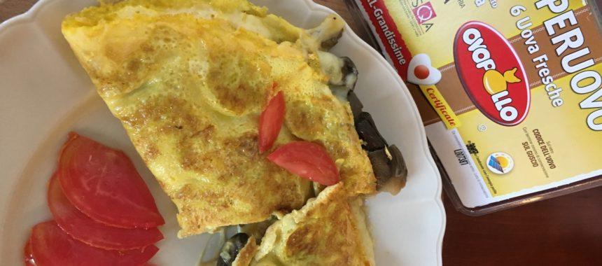 Omelette al formaggio e alle verdure