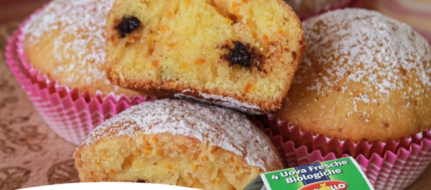 Muffin alla zucca e yogurt bianco